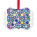 Star Stain Glass Pattern Picture Ornament