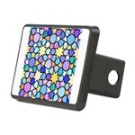 Star Stain Glass Pattern Rectangular Hitch Cover