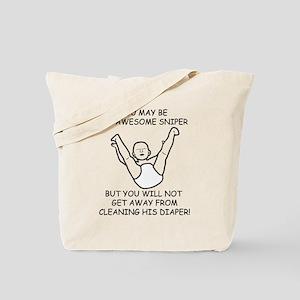 Sniper Diaper Tote Bag