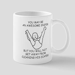 Sniper Diaper Mug
