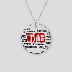 They call me Writer Necklace Circle Charm