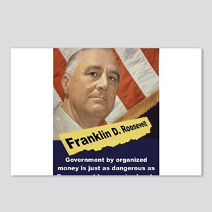 Government By Organized Money - FDR Postcards (Pac