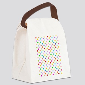 Rainbow Polka Dots Canvas Lunch Bag