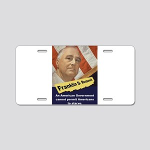 An American Government - FDR Aluminum License Plat