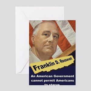 An American Government - FDR Greeting Card