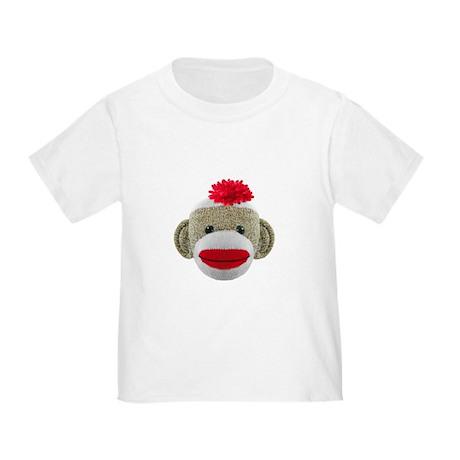 Sock Monkey Face Toddler T-Shirt