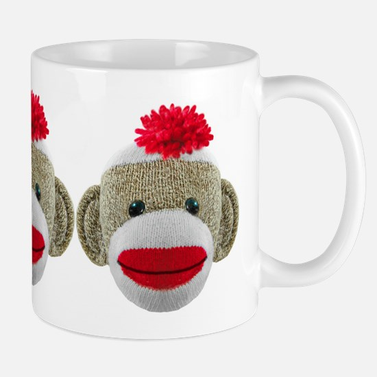 Sock Monkey Face Mug