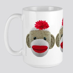 Sock Monkey Face Large Mug