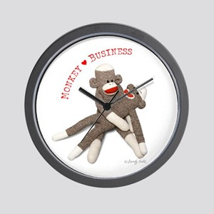Monkey Business - Wall Clock