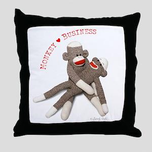 Monkey Business - Throw Pillow