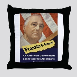 An American Government - FDR Throw Pillow