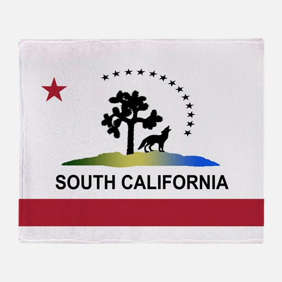 Flag of South California Throw Blanket