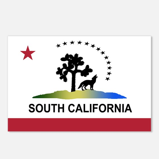 Flag of South California Postcards (Package of 8)
