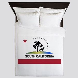 Flag of South California Queen Duvet