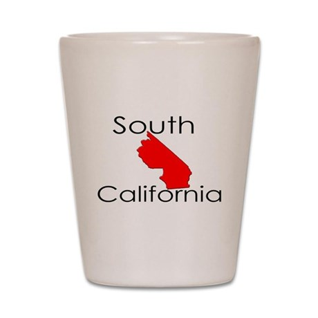 South California Red State Shot Glass