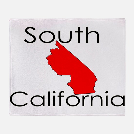 South California Red State Throw Blanket