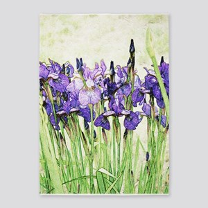 Irises 5'x7'Area Rug