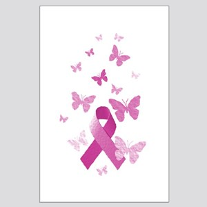 Pink Awareness Ribbon Large Poster