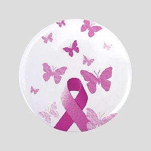 """Pink Awareness Ribbon 3.5"""" Button"""