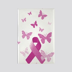 Pink Awareness Ribbon Rectangle Magnet