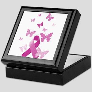 Pink Awareness Ribbon Keepsake Box