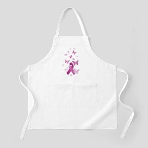 Pink Awareness Ribbon Apron