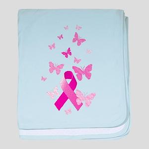 Pink Awareness Ribbon baby blanket