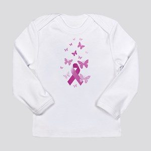 Pink Awareness Ribbon Long Sleeve Infant T-Shirt