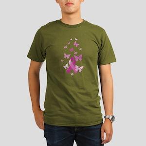 Pink Awareness Ribbon Organic Men's T-Shirt (dark)