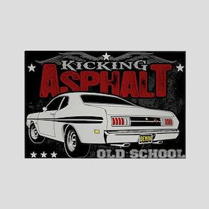 Kicking Asphalt - Demon Rectangle Magnet