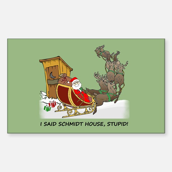 Schmidt House Cartoon Christmas Decal
