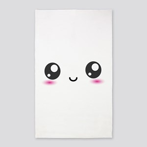 Japanese Anime Smiley 3'x5' Area Rug