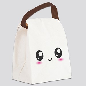 Japanese Anime Smiley Canvas Lunch Bag