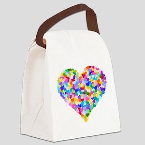 Rainbow Heart of Hearts Canvas Lunch Bag