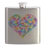Rainbow Heart of Hearts Flask