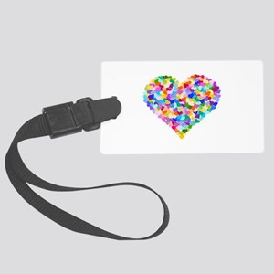 Rainbow Heart of Hearts Large Luggage Tag