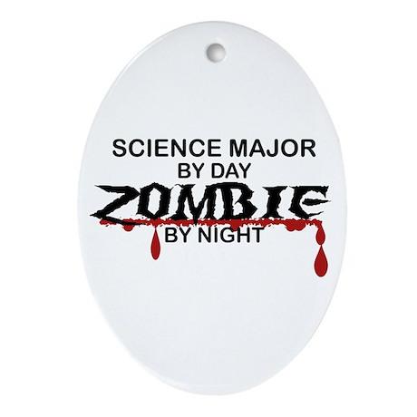 Science Major Zombie Ornament (Oval)