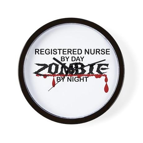 Registered Nurse Zombie Wall Clock