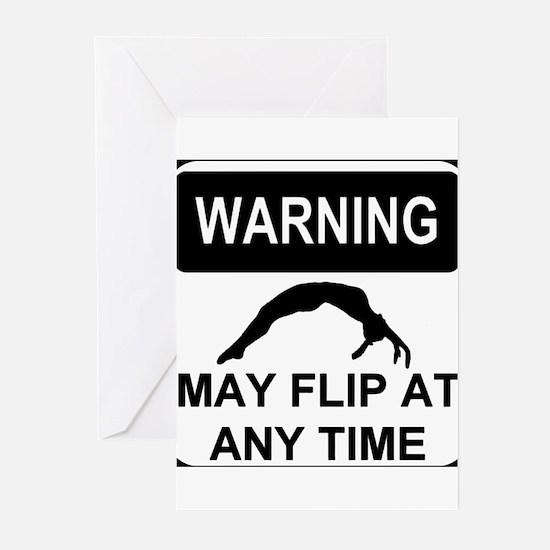 Warning may flip Greeting Cards (Pk of 20)