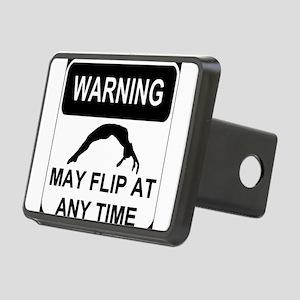 Warning may flip Rectangular Hitch Cover