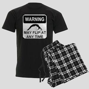 Warning may flip Men's Dark Pajamas
