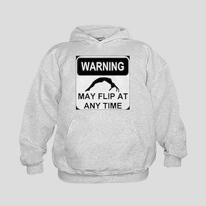 Warning may flip Kids Hoodie
