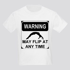 Warning may flip Kids Light T-Shirt