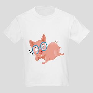 The Sleeping Pig Kids Shirt Kids Light T-Shirt