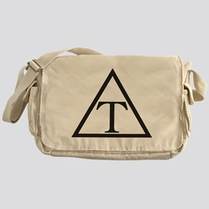 Triangle Fraternity Badge Messenger Bag