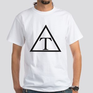 Triangle Fraternity Badge White T-Shirt