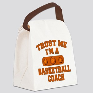 Trust Me Im a Basketball Coach Canvas Lunch Bag