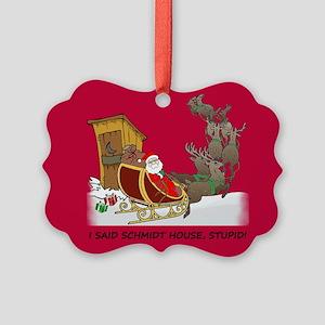 Schmidt House Cartoon Christmas Picture Ornament