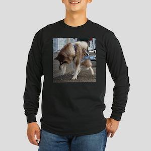 Alaskan Malamute Power Long Sleeve Dark T-Shirt