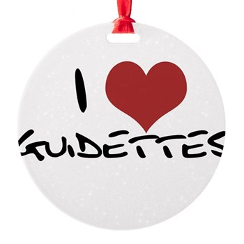 I Heart Guidettes Round Ornament